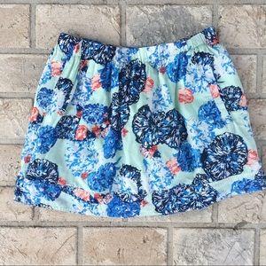 J Crew Cotton Pocket Mint Skirt